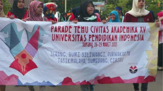 Parade Temu Civitas Akademika XV (TCA). Acara yang berlangsung 26 sampai 29 maret , Kamis (26/3)