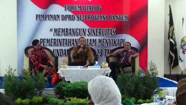 Forum Dialog Pimpinan DPRD Se Provinsi Banten. (Foto: Lukman)