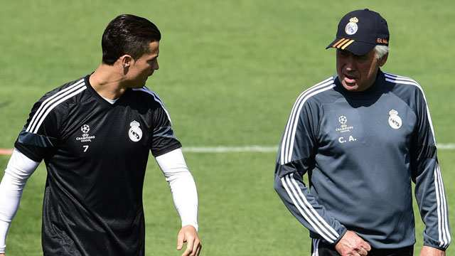 Cristiano Ronaldo & Carlo Ancelotti.  (Foto: AFP)