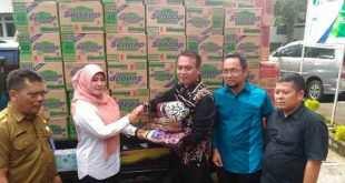 BPJS Ketenagakerjaan Kanwil Banten Kucurkan Bantuan ke Korban Banjir Pandeglang